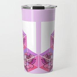 Floral Cube #2 Travel Mug