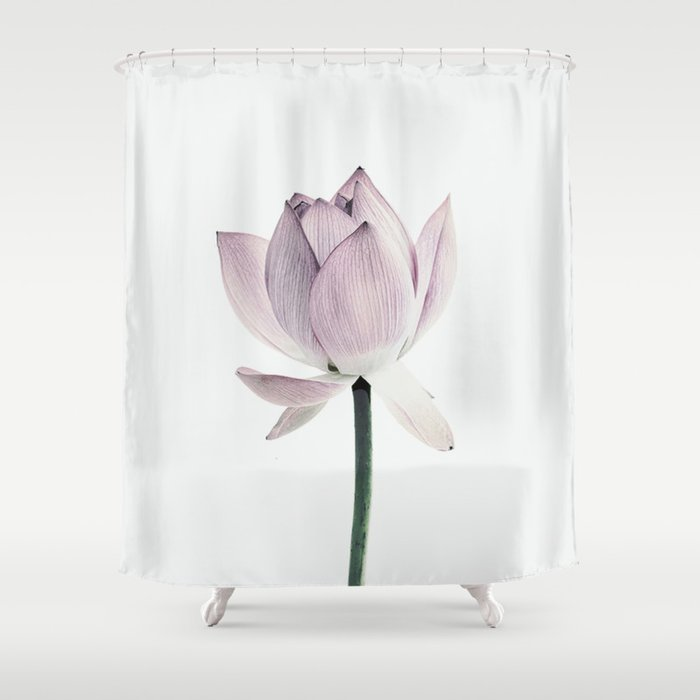 Lotus Shower Curtain By Thindesign