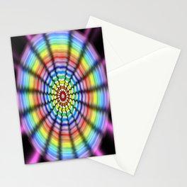 Radiating Flower Stationery Cards