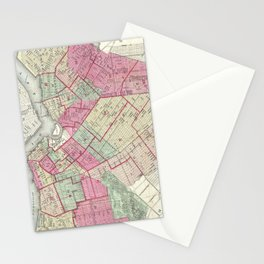 Vintage Map of Brooklyn (1868) Stationery Cards