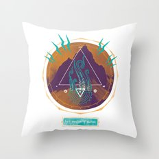 The Mountain of Madness Throw Pillow