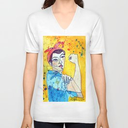 ROSIE THE RIVETER Unisex V-Neck