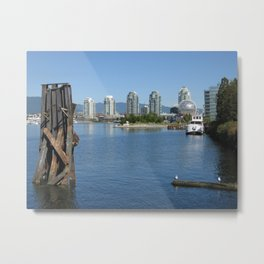 False Creek view, Vancouver Metal Print