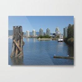False Creek view, Vancouver Metal Print