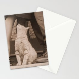 It's Love! Vintage Couple With Kitty Stationery Cards