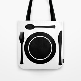 Metal Cutlery Plate Setting Tote Bag
