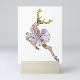 Reindeer Ballerina Tutu Mini Art Print