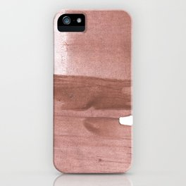 Rosy brown streaked wash drawing iPhone Case