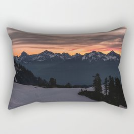 Rising Sun in the Cascades - nature photography Rectangular Pillow