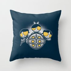 Sugar and Splice and Everything Nice Throw Pillow