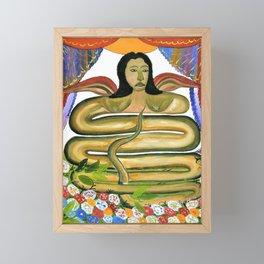 Hector Hyppolite - Damballah The Flame - Digital Remastered Edition Framed Mini Art Print