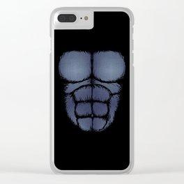 Gorilla Six Pack Jean Skin Clear iPhone Case