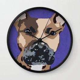 Prince on purple Wall Clock