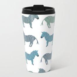 Blue Zebra Metal Travel Mug
