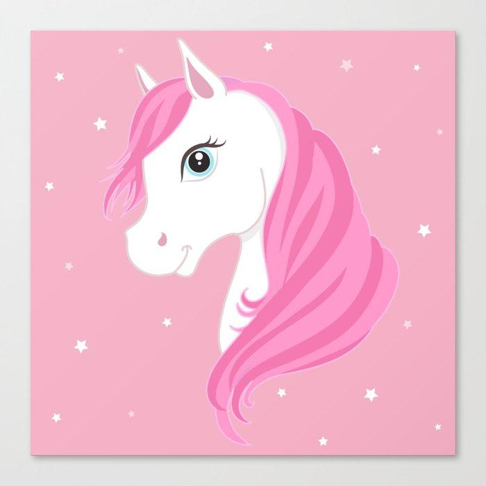 Pink Unicorn Leinwanddruck