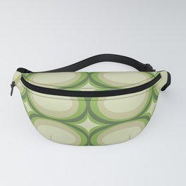Vintage green pattern Fanny Pack