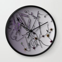 Lady Punk Wall Clock