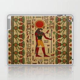 Egyptian Re-Horakhty  - Ra-Horakht  Ornament on papyrus Laptop & iPad Skin