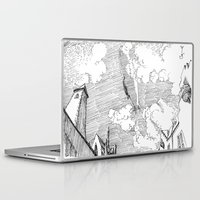 led zeppelin Laptop & iPad Skins featuring Zeppelin Overhead by Mr.Willow