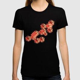 Flower red minimal margarita daisy  T-shirt