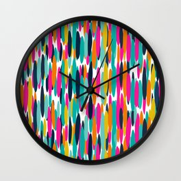 Colorful Stripes, Fun Art, Colourful Prints, Abstract Art Wall Clock