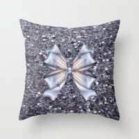 silver Throw Pillows featuring Silver by Elena Indolfi