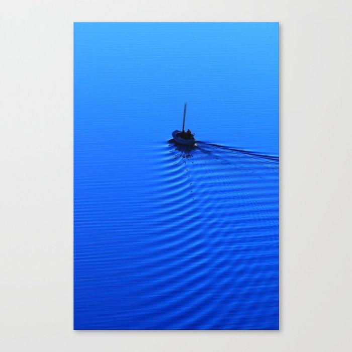 Vibrant Sailing to the Blues Canvas Print