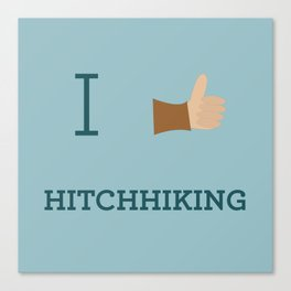 I heart Hitchhiking Canvas Print