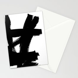 Abstract black & white 2 Stationery Cards