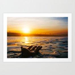 Salty Sunrise (Film) Art Print