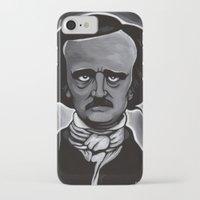 edgar allen poe iPhone & iPod Cases featuring Edgar by Paul Brogden