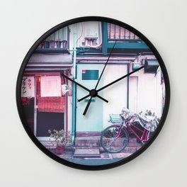 Afternoon in a Tokyo Residential Street Wall Clock