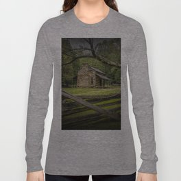 Oliver Log Cabin in Cade's Cove Long Sleeve T-shirt