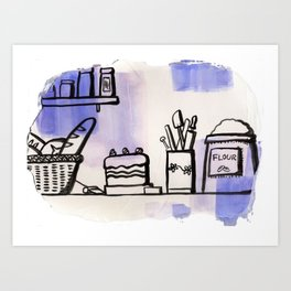 Food ingredients Art Print
