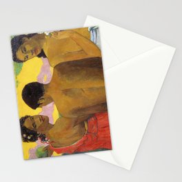 Three Tahitians by Paul Gauguin Stationery Cards