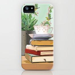 Tea and book love iPhone Case