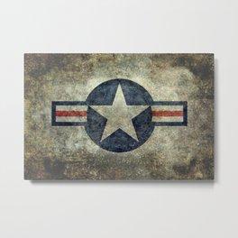 Vintage USAF Roundel #2 Metal Print