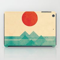 super heroes iPad Cases featuring The ocean, the sea, the wave by Picomodi