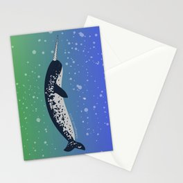 Happy Narwhal Stationery Cards