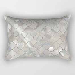 Quatrefoil Moroccan Pattern Mother of Pearl Rectangular Pillow