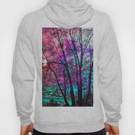 Purple teal forest Hoody