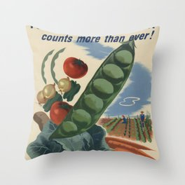 Vintage poster - Victory Garden Throw Pillow