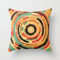 dave grohl Throw Pillows featuring Space Odyssey by Picomodi
