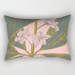 Modern Botanical Banana Leaf Rectangular Pillow