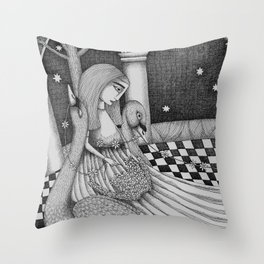 The Star Flowers (1) Throw Pillow