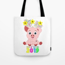 Year Of The Pig 2019 Chinese New Year Astrology Zodiac Tote Bag