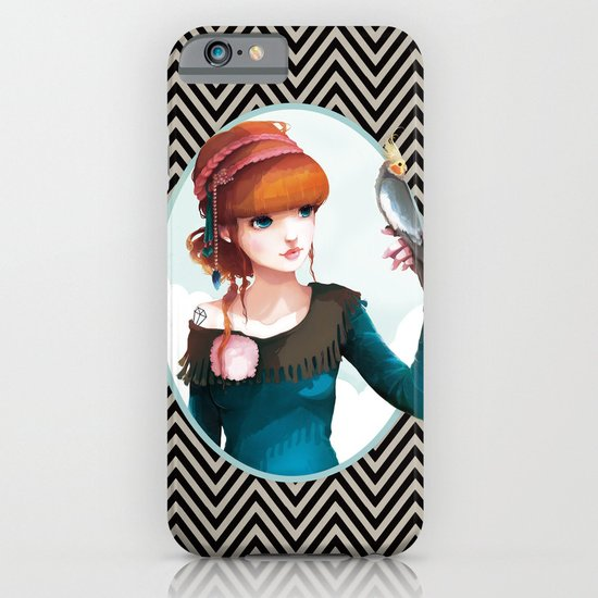 Rose et l'oiseau iPhone & iPod Case