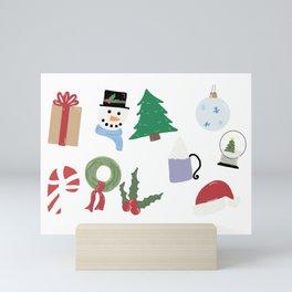 Christmas Collage Mini Art Print