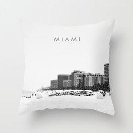 Miami.v2 Throw Pillow