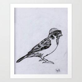 Nerdy Birdy Art Print